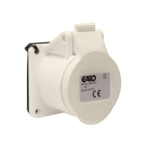 IP44 Splashproof Panel Socket 16 AMP