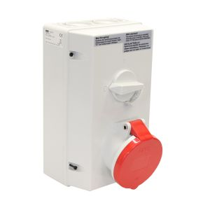 IP44 Splashproof Switched Interlocked Socket 63 AMP