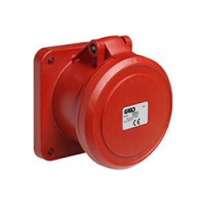IP44 Splashproof Panel Mount Socket Outlet 63 AMP